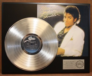 "Platinum Record For 1982 Epic Release, ""Thriller"""