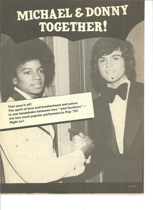 A Clipping Pertaining To Michael And Donny Osmond