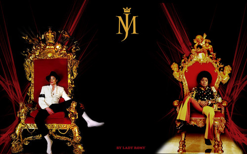 Michael Jackson wolpeyper containing a trono titled Michael, Now And Then