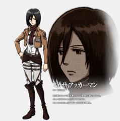 Mikasa Ackerman character thiết kế