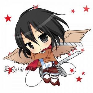Чиби Mikasa Ackerman ~