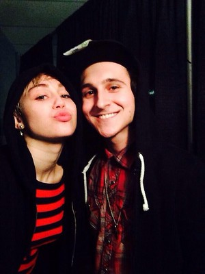 Miley and Mitchell at Bangerz Tour 2014