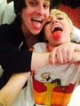 Miley and Mitchell at Bangerz Tour 2014 - miley-cyrus photo