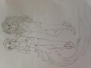 Modern Merida and Rapunzel