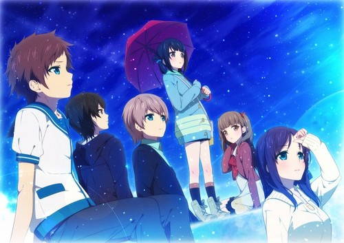 Nagi no Asukara karatasi la kupamba ukuta possibly with anime titled Nagi No Asukara