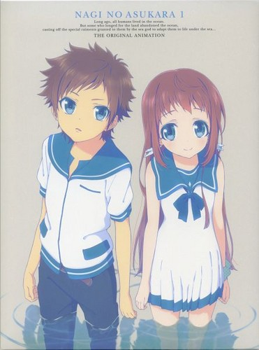 Nagi no Asukara karatasi la kupamba ukuta possibly containing anime entitled Hikari x Manako