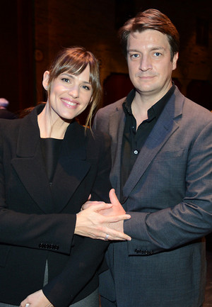 Nathan and Jennifer Garner at the Geffen's(March,2014)
