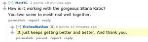 Nathan comentario about Stana