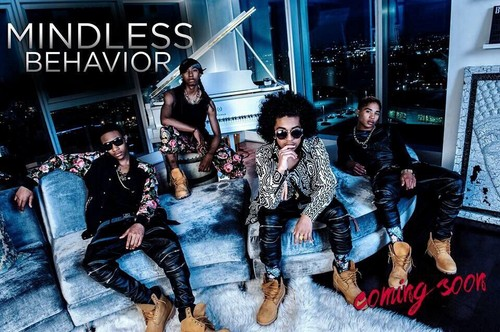 Mindless Behavior wallpaper probably containing a street and a sign called Oh yasssss new music coming soon 💛💛💙💙💜💜💚💚