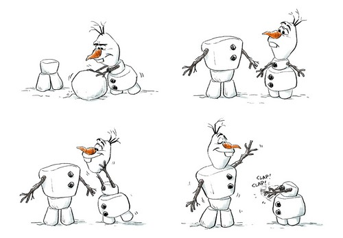 Frozen kertas dinding titled Olaf Concept Art