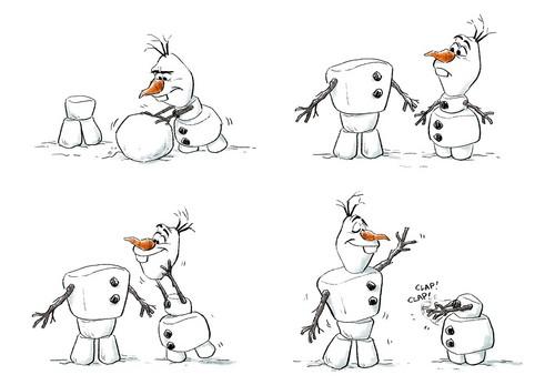 Frozen kertas dinding entitled Olaf Concept Art