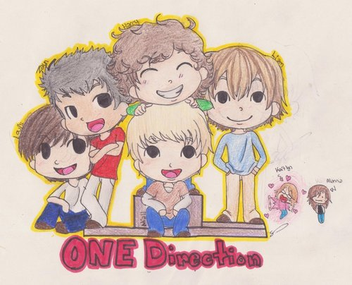 My Friends On Fanpop wallpaper probably with anime titled One Direction