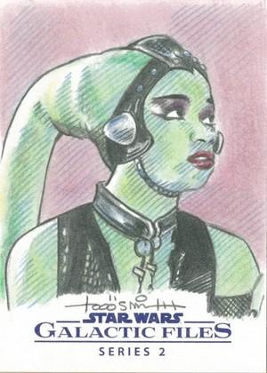 Oola Galactic File Sketch Card