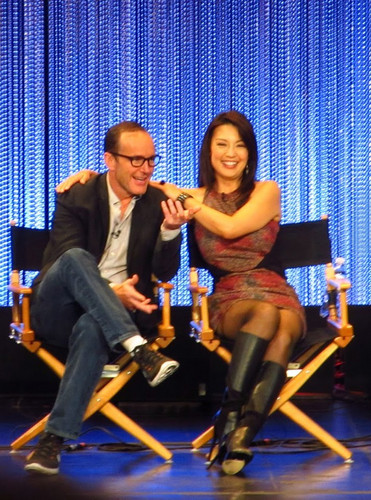Phil Coulson & Melinda May wallpaper possibly containing a business suit called Philinda PaleyFest