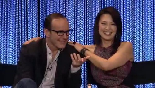 Phil Coulson & Melinda May wallpaper possibly containing a chainlink fence, a penal institution, and a holding cell entitled Philinda PaleyFest