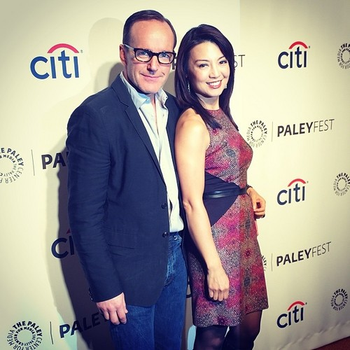Phil Coulson & Melinda May wallpaper possibly with a well dressed person and a business suit entitled Philinda PaleyFest