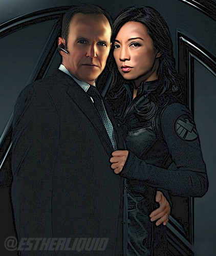 Phil Coulson & Melinda May wallpaper possibly with a business suit and a well dressed person titled Philinda digital painting and illustration