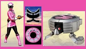 berwarna merah muda, merah muda samurai ranger