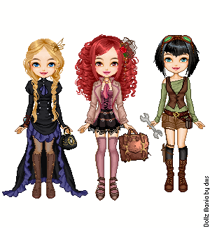 steampunk powerpuff giirls