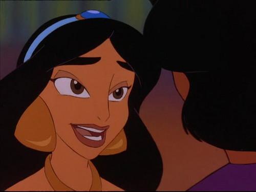 Princess jimmy, hunitumia karatasi la kupamba ukuta possibly with anime called jimmy, hunitumia in The Return of Jafar
