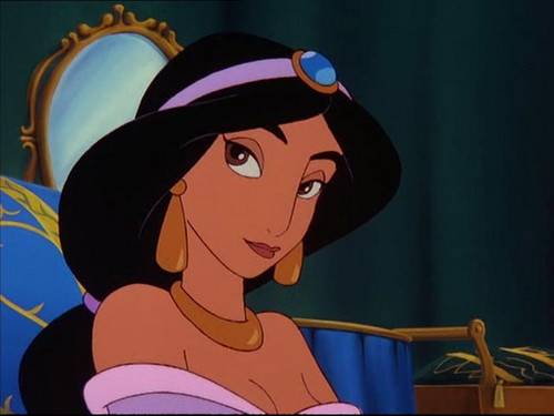 Princess jimmy, hunitumia karatasi la kupamba ukuta possibly with anime called jimmy, hunitumia in The Return of Jafar