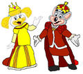 Queen Helen Henny and King Chuck E. Cheese