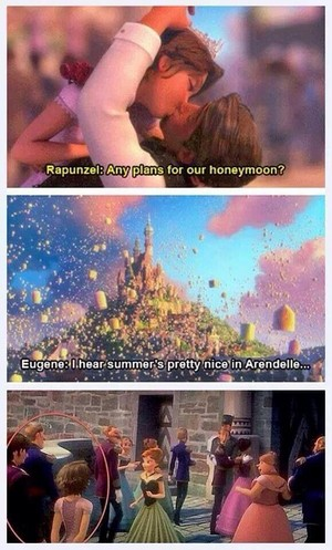 Rapunzel and Eugene in Arendelle!