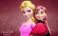 Recolored Elsa and Anna