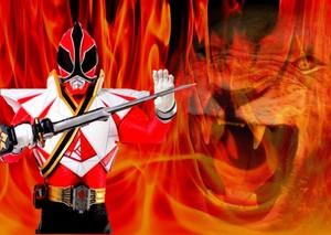 Red samurai mega ranger