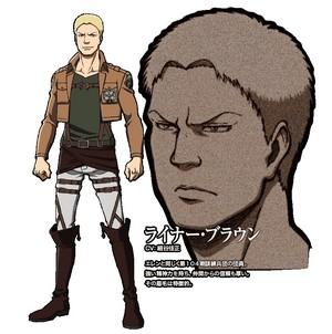 Reiner Braun character डिज़ाइन