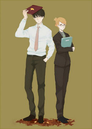 Riza Hawkeye and Roy мустанг