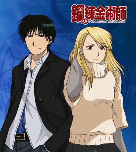 Riza Hawkeye Anime/Manga wallpaper with anime entitled Riza Hawkeye and Roy mustang
