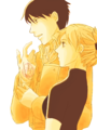 Riza Hawkeye and Roy Mustang - riza-hawkeye-anime-manga fan art