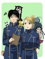 Riza Hawkeye and Roy Mustang - riza-hawkeye-anime-manga photo