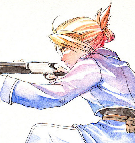 Riza Hawkeye Anime/Manga वॉलपेपर containing ऐनीमे entitled Riza Hawkeye