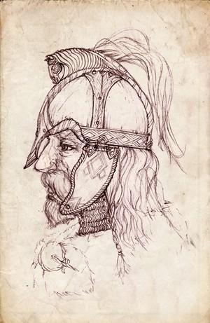 Rohan 头盔 sketch 由 merlkir.deviantart.com
