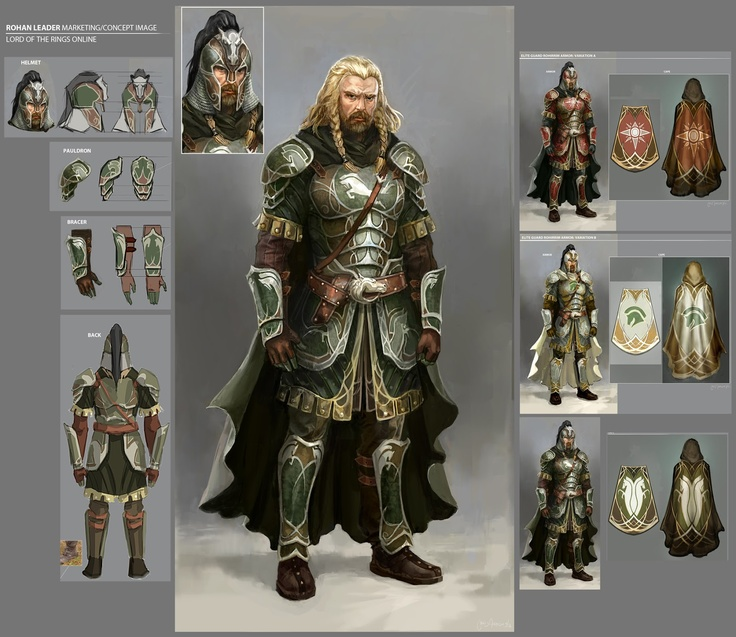 Rohan leader concept from lotro