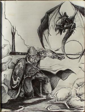 Rohirrim and Nazgul 由 stambo42.deviantart.com