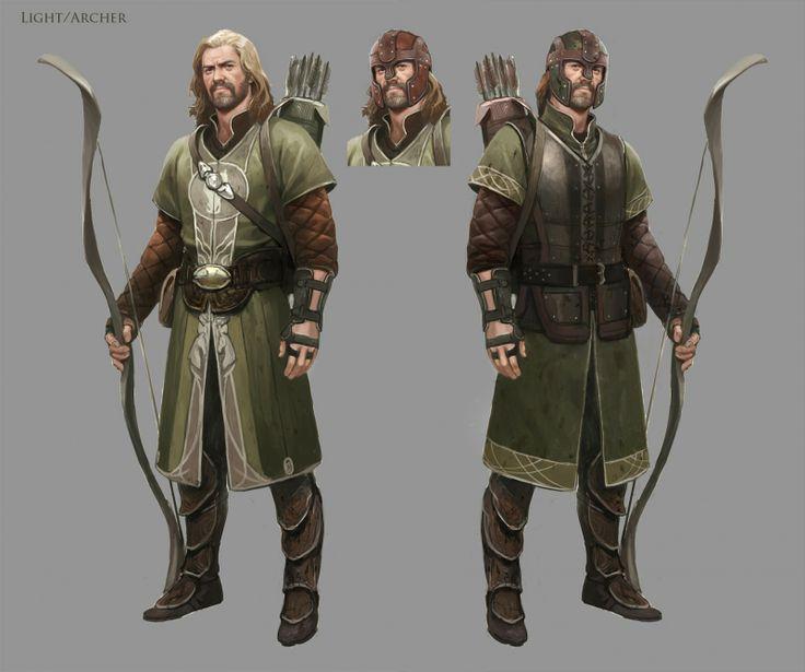Rohirrim archer from lotro