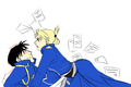 Roy Mustang and Riza Hawkeye - full-metal-alchemist wallpaper