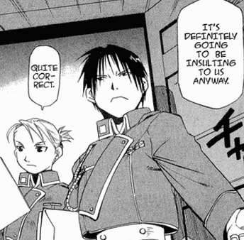 Fullmetal Alchemist: Brotherhood - Anime Roy Mustang and Riza Hawkeye