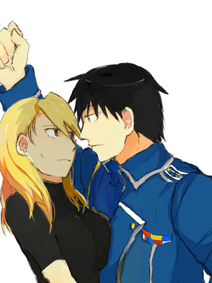 Roy مستونگ, mustang and Riza Hawkeye