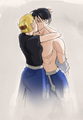 Roy Mustang and Riza Hawkeye - roy-riza%3D-royai fan art