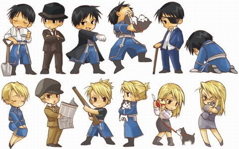 Riza Hawkeye Anime/Manga wallpaper probably with anime titled Roy and Riza