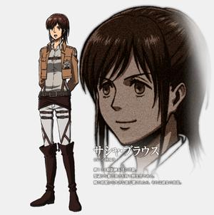 Sasha Braus character डिज़ाइन