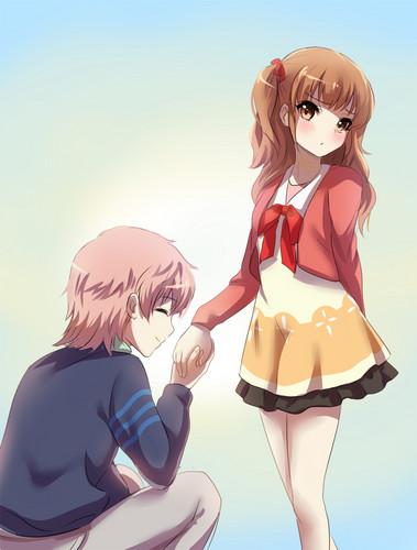 Nagi no Asukara karatasi la kupamba ukuta called Sayu x Kaname