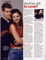 Scan of Twist magazine article, November 2001 - joshua-jackson-and-katie-holmes photo