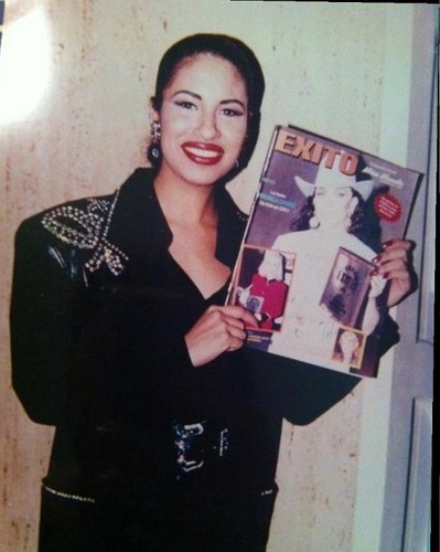 Selena Quintanilla-Pérez wallpaper probably with a newspaper and anime titled The One & Only Selena ♥