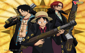 Shanks, Luffy and Ace