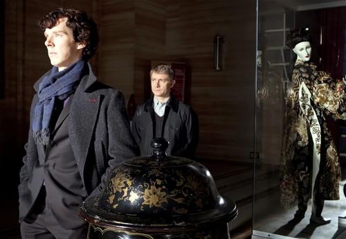 Sherlock in der BBC Hintergrund entitled Sherlock and John
